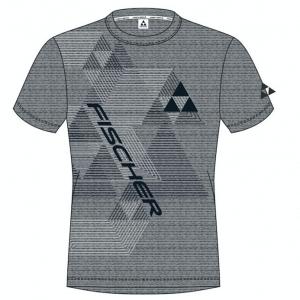 t-shirt fischer leogang grey