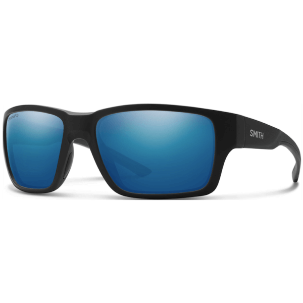 okulary smith outback black chromapop polarized blue mirror