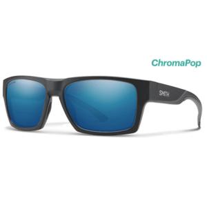 okulary Smith Outlier 2 matte charcoal Chromapop Polarized Blue Mirror