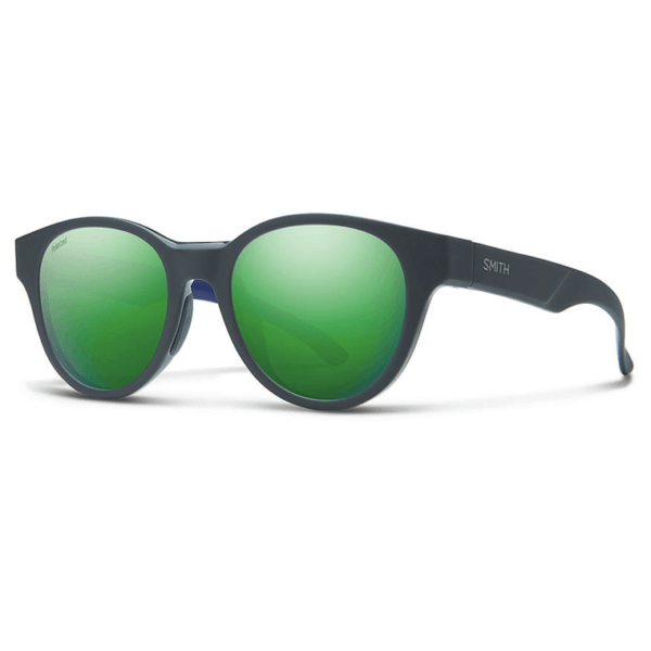 Okulary Smith Snare Matte Smoke Blue Polarized Green Mirror