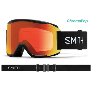 gogle smith squad black photochromic red mirror