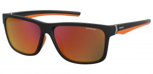 okulary polaroid pld 7014s matt black orange rubber