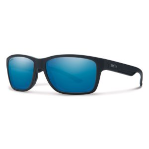 okulary smith wolcott matte black polarized blue mirror 230590DL558W5