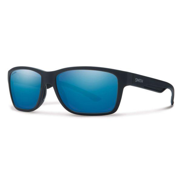 okulary smith wolcott matte black polarized blue mirror 230590DL558W5