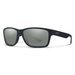 okulary smith wolcott matte black polarized platinum 230590DL558RT