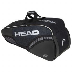 torba tenisowa head Djokovic 6R Combi black grey