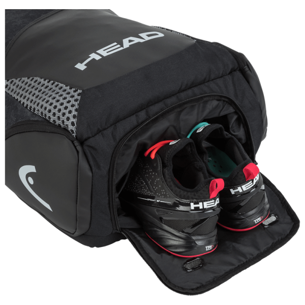 plecak tenisowy head Djokovic Backpack black grey