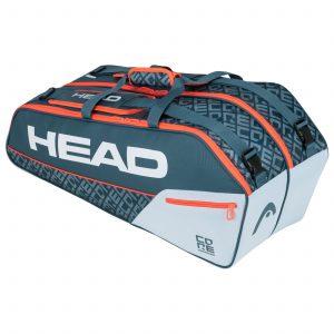 torba tenisowa head Core 6R Combi grey orange