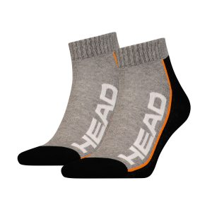 skarpety head socks tennis stripe quarter gray black