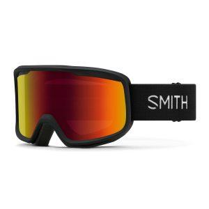 gogle smith frontier black red sol x mirror 2022