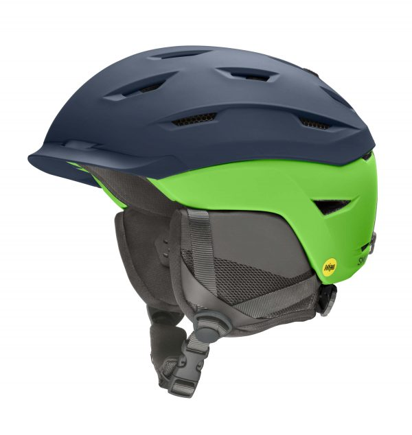 kask smith level mips matte french navy limelight 2021