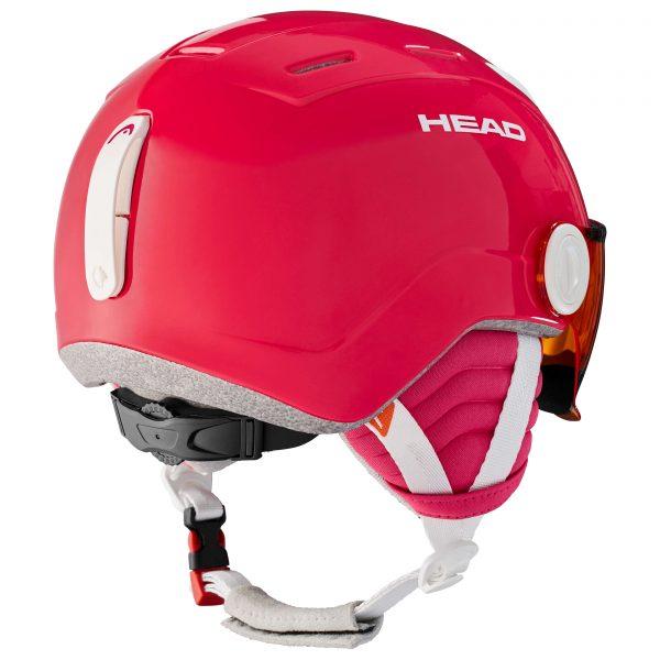 kask head maja visor pink 2021
