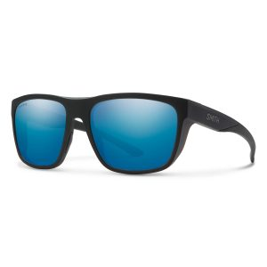 okulary smith barra matte black chromapop polarized blue mirror