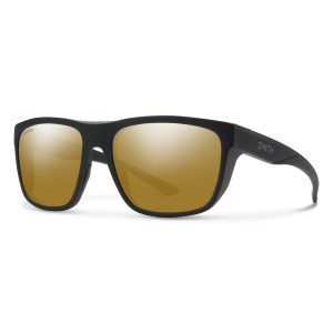 okulary smith barra matte black chromapop polarized bronze mirror