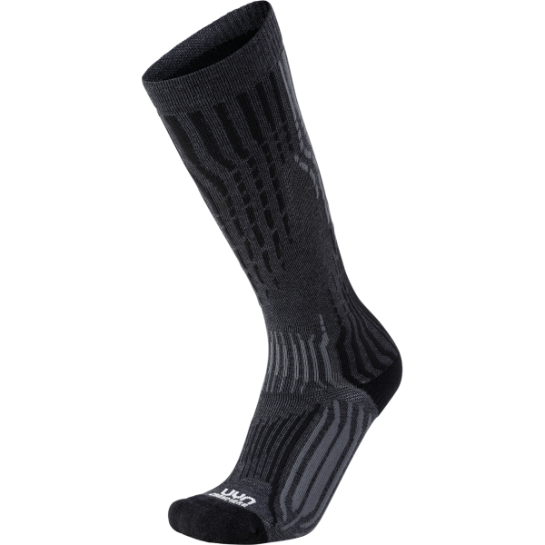 skarpety uyn ski cashmere socks grey rock black
