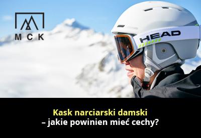 Kask narciarski damski