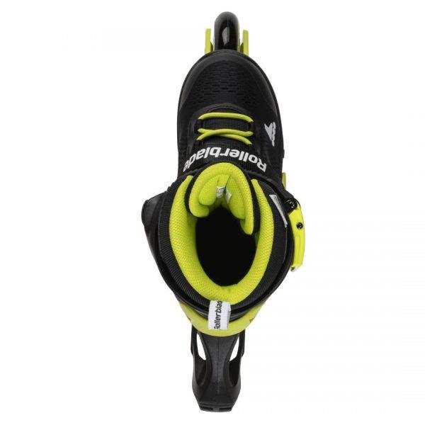 rolki rollerblade microblade black neon yellow