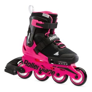 rolki rollerblade microblade g black neon pink