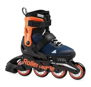 rolki rollerblade microblade midnight blue warm orange