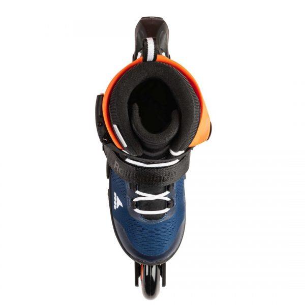 rolki rollerblade microblade midnight blue warm orange