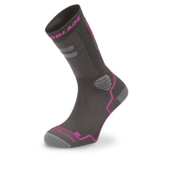skarpetki rollerblade high performance w socks dark grey pink