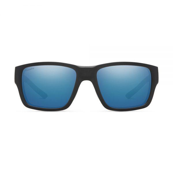 okulary smith OUTBACK MATTE BLACK CHROMAPOP POLARIZED BLUE MIRROR