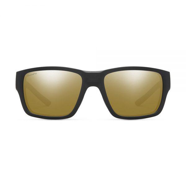 okulary smith outback matte black chromapop polarized bronze mirror