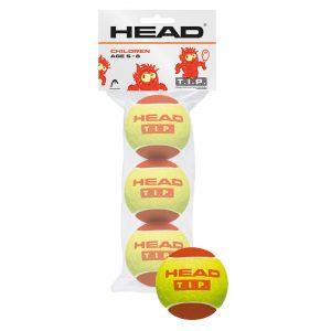 pilki tenisowe dla dzieci head tip red