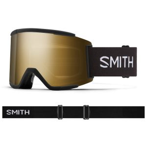 Gogle SMITH SQUAD XL Black ChromaPop Sun Black Gold Mirror + ChromaPop Storm Rose Flash 2022
