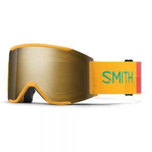 Gogle SMITH SQUAD MAG Saffron Landscape ChromaPop Sun Black Gold Mirror + Storm Yellow Flash 2022