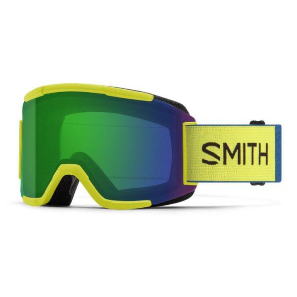 Gogle SMITH SQUAD Neon Yellow ChromaPop Everyday Green Mirror + Yellow 2022